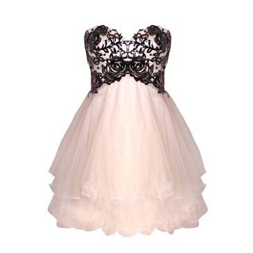 forever unique dress lace pink
