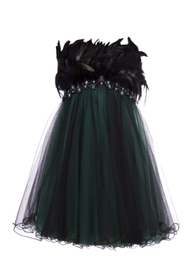 forever unique dress emerald