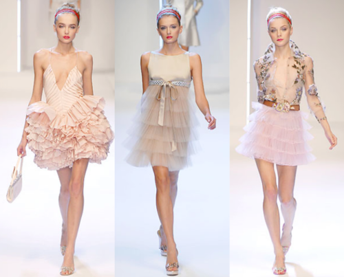 Pretty frills pink and nude