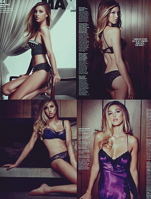 Whitney Port lingerie fashion shoot
