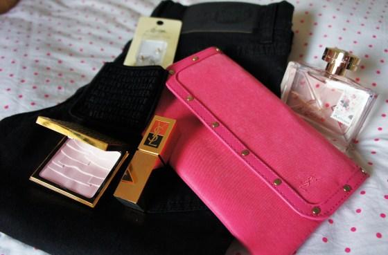 "YSL makeup, Cheap monday jeans, Lovisa earring backs and John Galliano ""Parlez moi d'amour"" Fragrance"