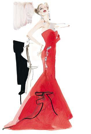 David Downton Fashion Illustration