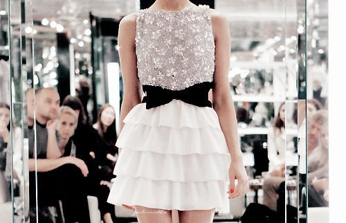 Pearl and lace dress