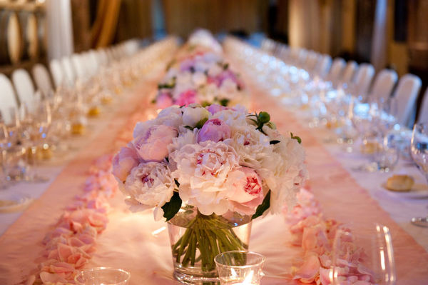 Flowers on table setting