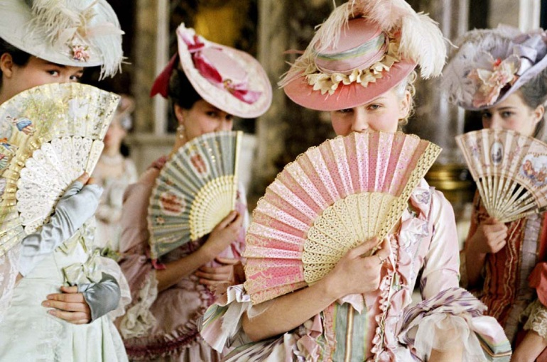 pink stripes Marie antoinette dress costume