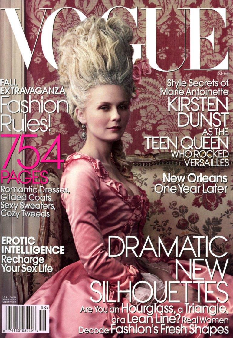 Vogue Cover Marie Antoinette