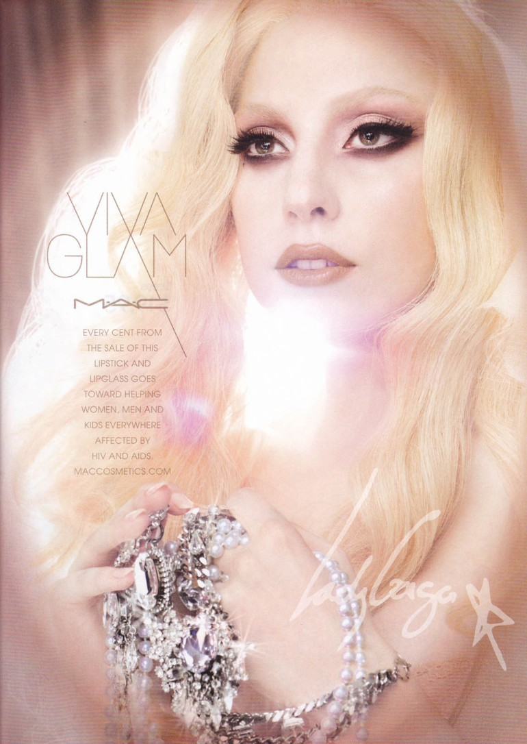 MAC Viva Glam Lady Gaga advertisment magazine