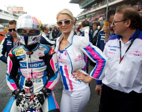 Paris Hilton Montmelo MotoGP