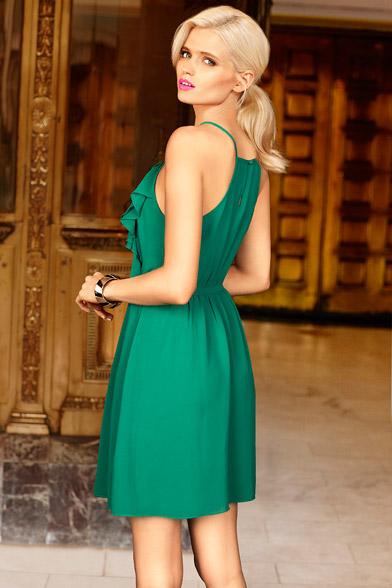 Portmans ss2012 Abbey Lee Kershaw Jade ruffle front dress