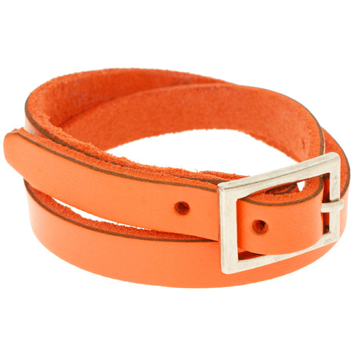 ASOS Orange leather cuff