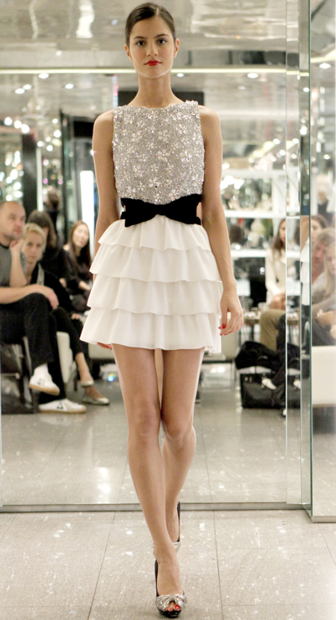 azzaro-spring-2011 Bow and Embellished dress