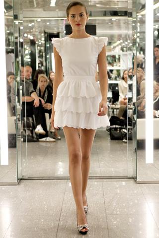 Azzaro Spring 2011 tiered dress white