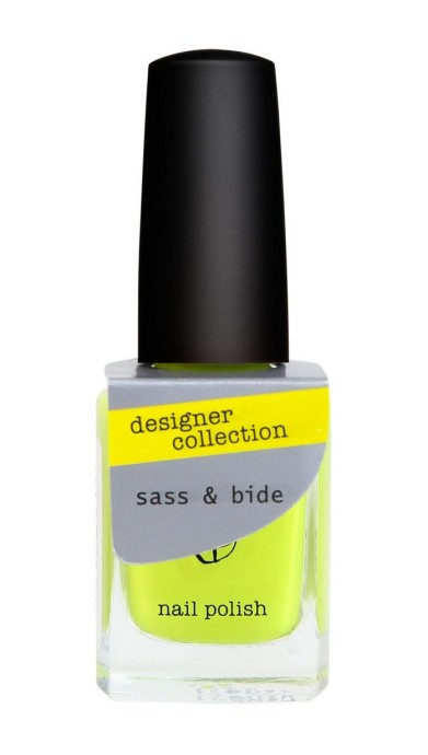 chartreuse Sass & Bide + Bloom nail polish collection