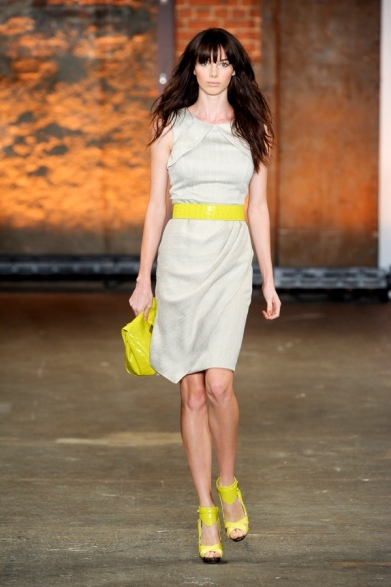 Christian Siriano 2012 SpringSummer Chartreuse accessories