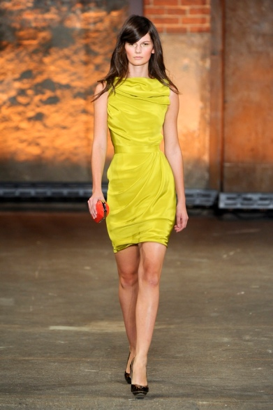 Christian Siriano 2012 SpringSummer Chartreuse dress