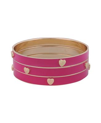 Forever 21 heart bracelet bangle set