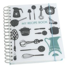 Kikki K recipe spiral book grey