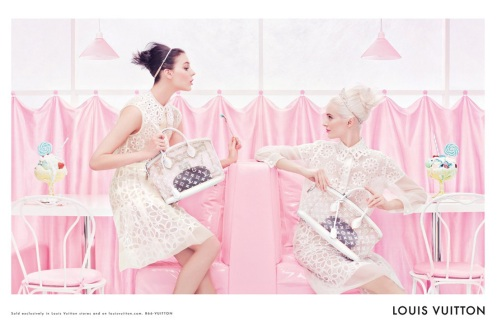 Louis-Vuitton-Spring-Summer-2012-ad-campaign-by-Steven-Meisel - Kati Nesher and Daria Strokous