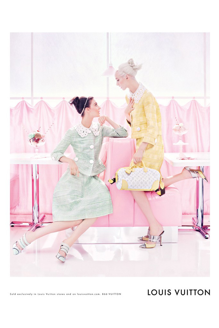 Louis-Vuitton-Spring-Summer-2012-campaign Kati Nesher and Daria Strokous