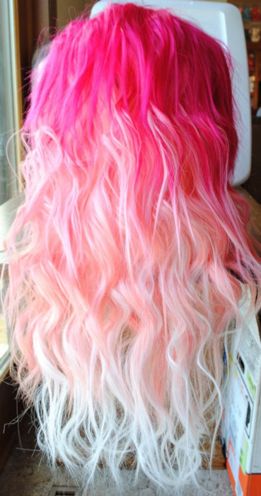 ombre pink hair gradation