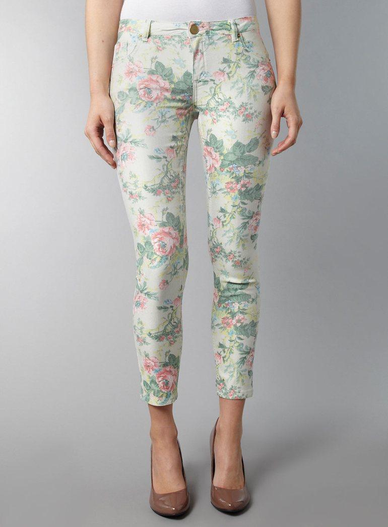 Dorothy Perkins Floral superskinny jeans