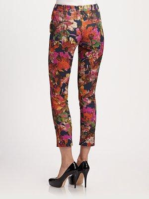 Erdem cropped floral trouser $1024
