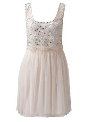forever new Maya Mesh Embellished Dress