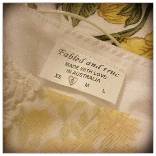Fabled and true garment tag
