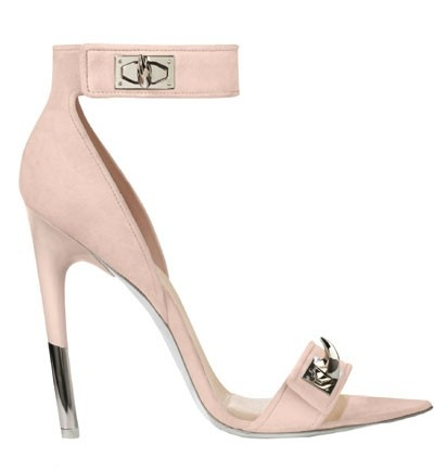 Givenchy pink nude heels strappy