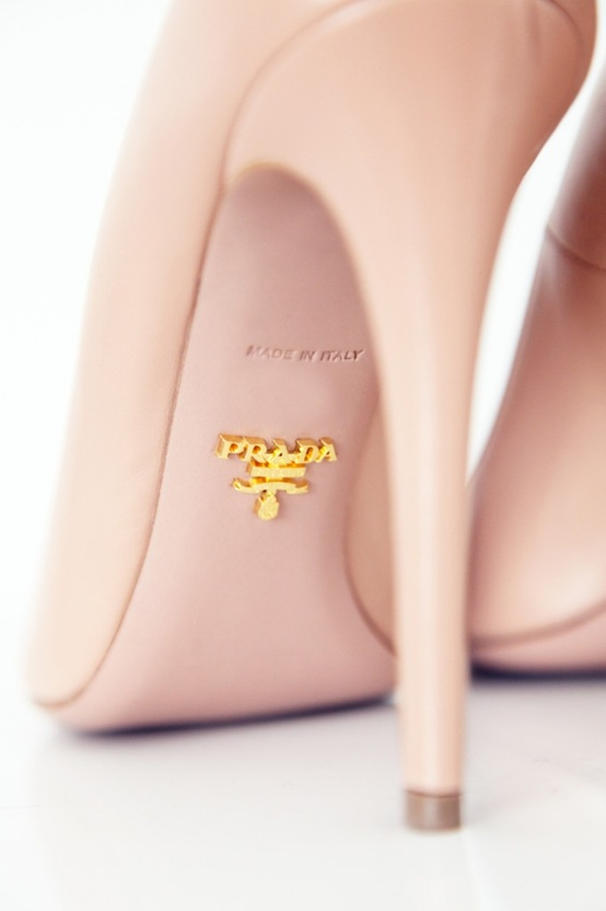 prada nude heels