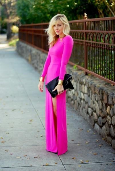 Slit dress fashion ladylikei blog trend  pink(11)
