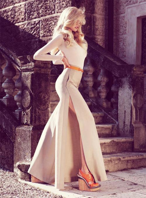 Slit dress fashion ladylikei  nude blog trend (2)