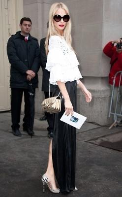 Slit dress fashion ladylikei black blog trend (5)