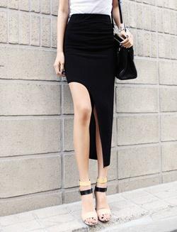 Slit dress fashion ladylikei black blog trend (6)