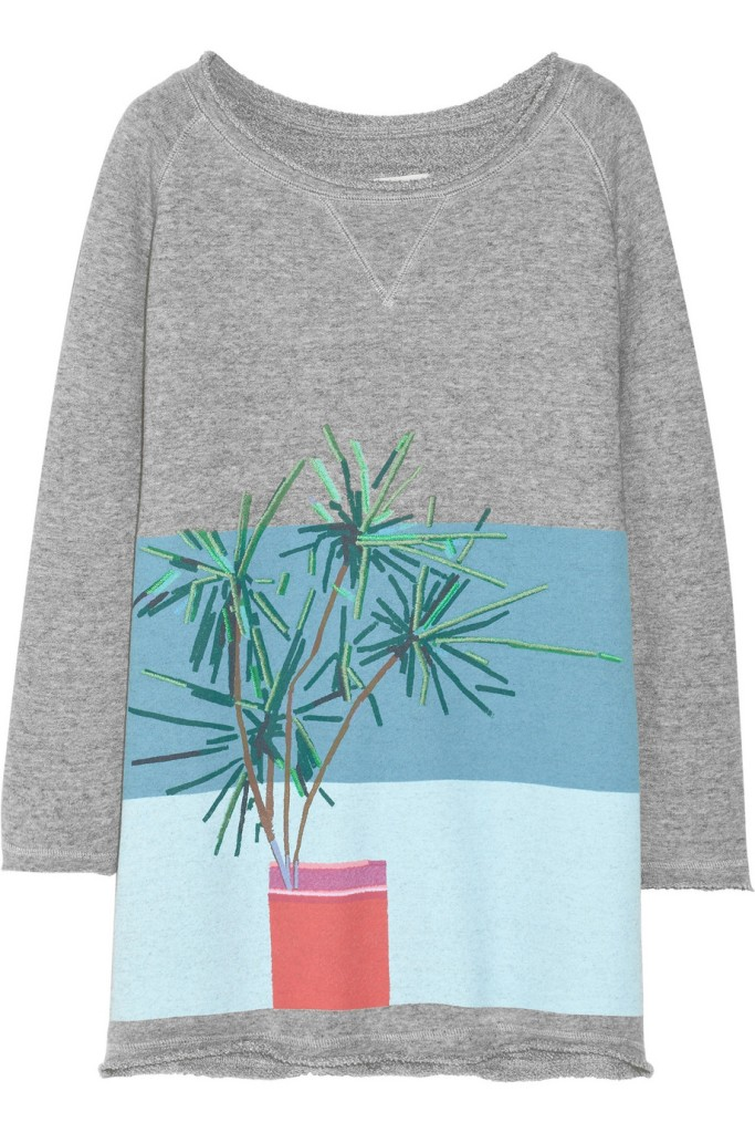 Band of Outsiders   Printed cotton French terry sweatshirt ladylikei autumn