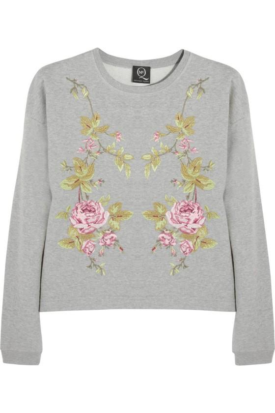 McQ Alexander McQueen Embroidered cotton-jersey sweatshirt